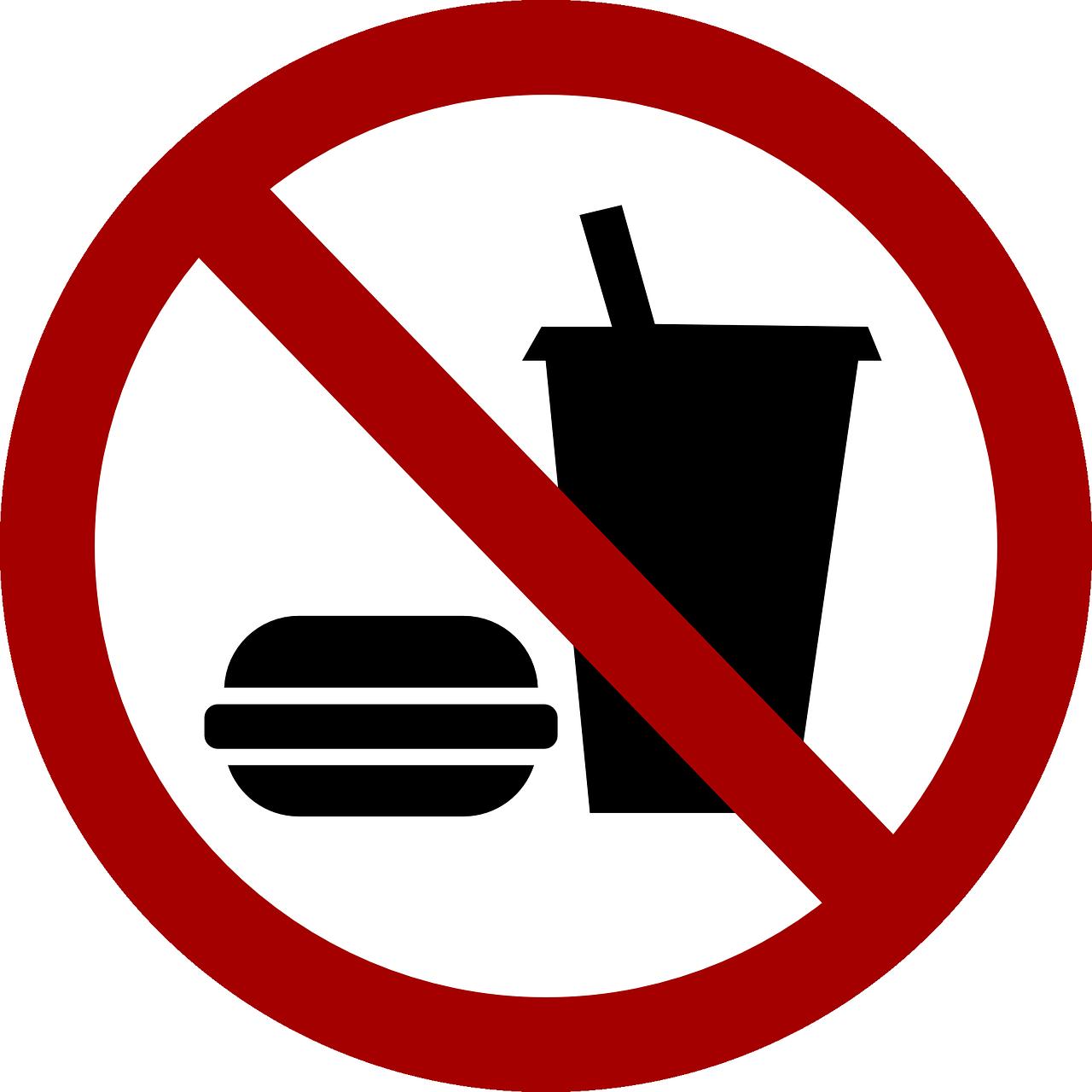 Zakaz spożywania posiłków oraz napojów na stanowiskach produkcyjnych